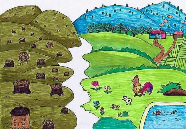 优秀环保主题儿童画获奖作品欣赏