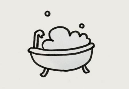 浴缸简笔画怎么画又好看