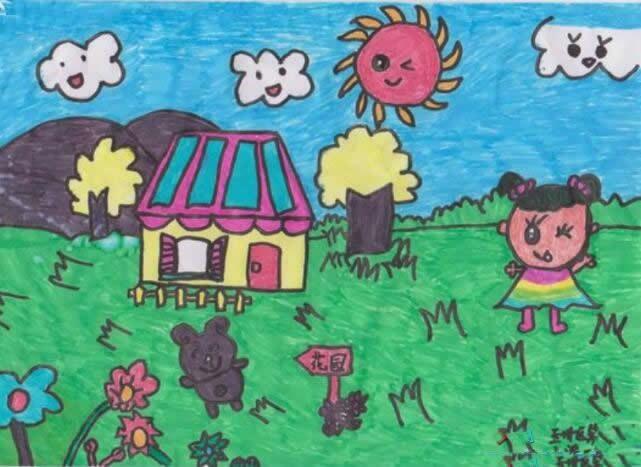 我心目中的绿色家园儿童画 绿色家园主题儿童画优秀作品
