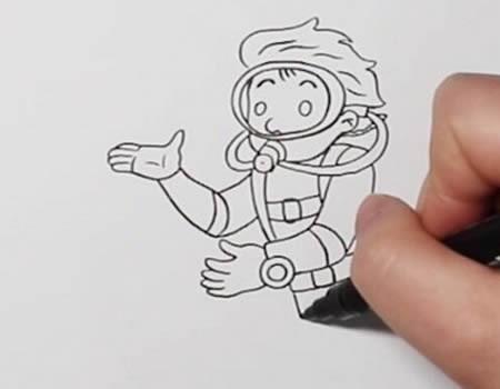 潜水员简笔画步骤图解,潜水员怎么画简单一点