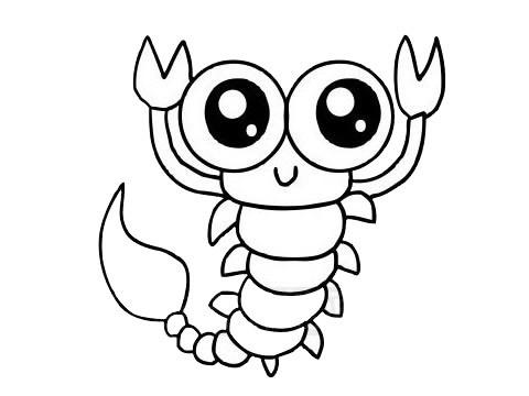 蝎子简笔画图片