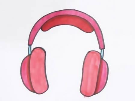 头戴式耳机怎么画简笔画简单漂亮