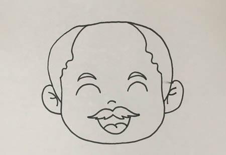 老爷爷简笔画彩色可爱,老人怎么画简笔画教程