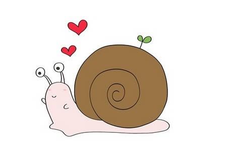 蜗牛简笔画怎么画简单又可爱 步骤图解