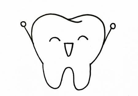 卡通牙齿怎么画简单又漂亮-卡通牙齿简笔画