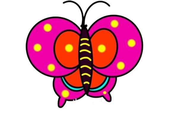 彩色蝴蝶简笔画图片大全