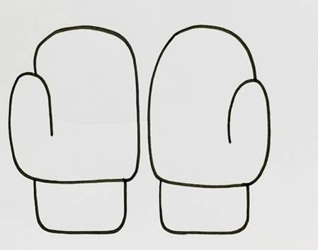 冬季手套怎么画简笔画简单又漂亮
