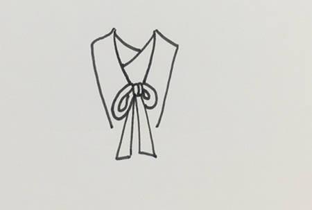 古代衣服怎么画简单又漂亮-古装长裙简笔画