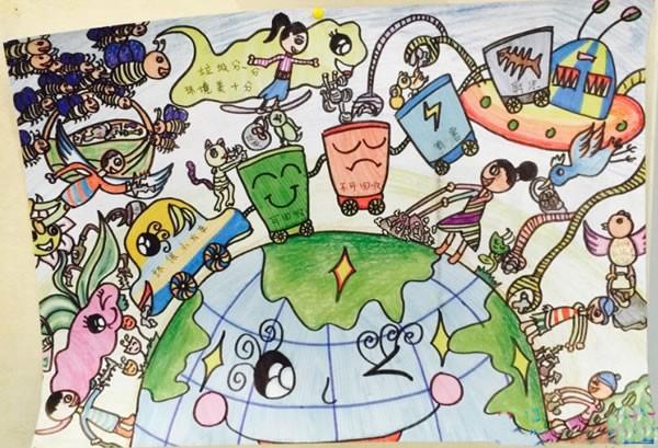 保护环境 爱护地球母亲优秀儿童画作品