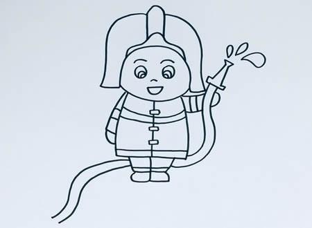 卡通消防员怎么画简单又漂亮