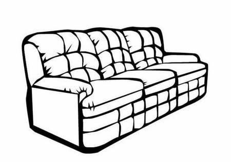 沙发简笔画图片大全简单又漂亮-沙发简笔画
