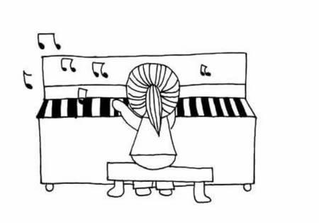 钢琴简笔画-钢琴简笔画图片大全简单又漂亮