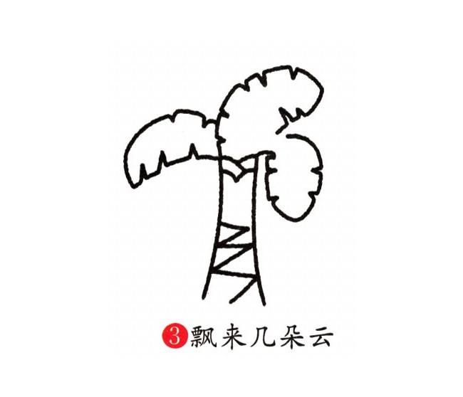 芭蕉树简笔画彩色图片