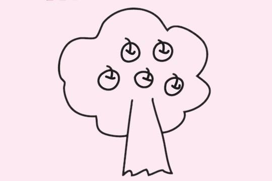 果树简笔画图片