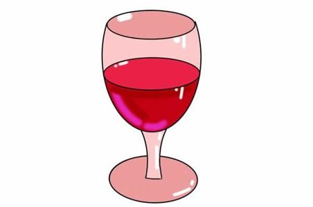 一杯红酒简笔画步骤画法图片