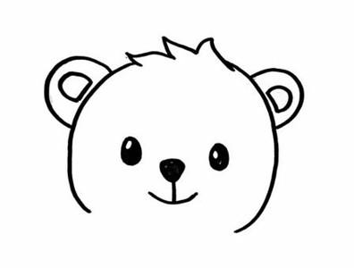 小熊简笔画步骤图解