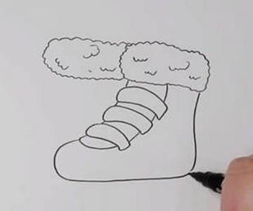 滑冰鞋简笔画怎么画