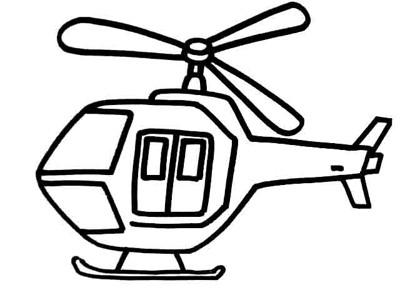 直升机简笔画图片大全 各种直升机简笔画预览