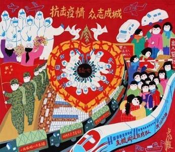 支援武汉医疗队医护人员抗击疫情儿童画