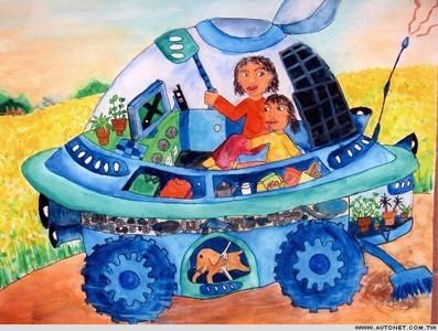 科幻画-未来的汽车