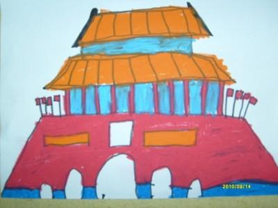 蜡笔画-天安门广场