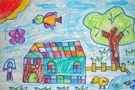 格子屋儿童画