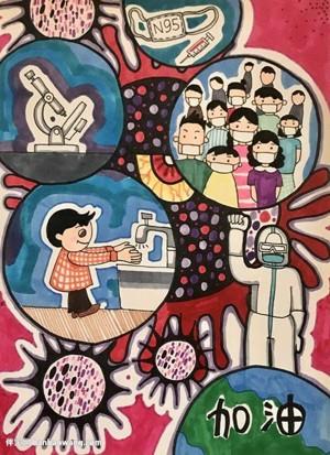 武汉加油儿童画图片简单漂亮