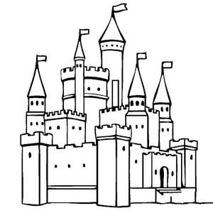 建筑图片 城堡简笔画图片