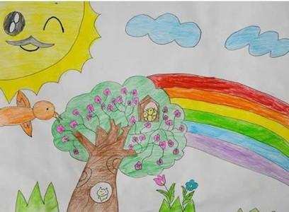 幼儿园以春天为主题的儿童画