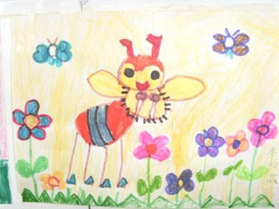 蜡笔画-加入小蜜蜂的队伍