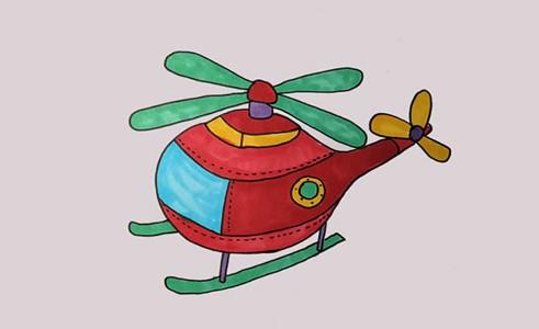 直升机怎么画简笔画简单好看