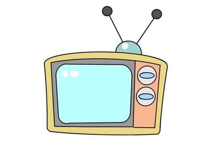 旧电视简笔画步骤图解教程