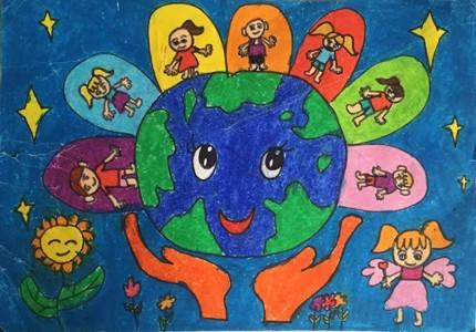 美丽家园儿童画获奖作品图片