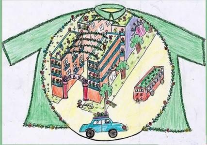 创意儿童画绿色家园主题画