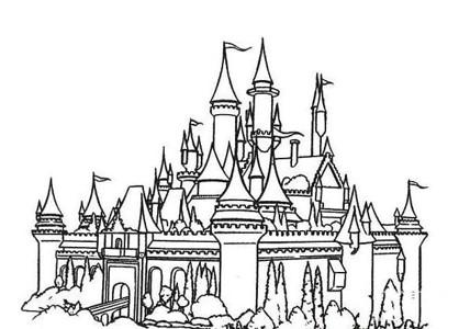 建筑图片 欧洲城堡简笔画