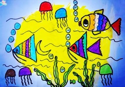 海底的鱼儿儿童画
