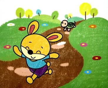 数字油画-龟兔赛跑