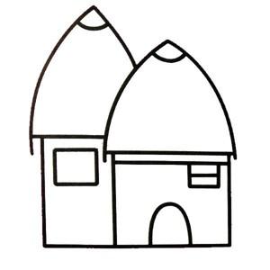 幼儿学画房子4