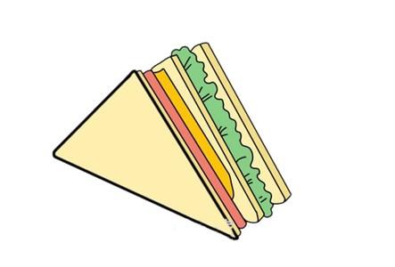 三明治简笔画步骤图解教程