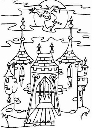 建筑图片 城堡攻防战简笔画