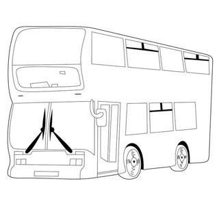 旅游大巴简笔画图片_公共汽车怎么画简笔画