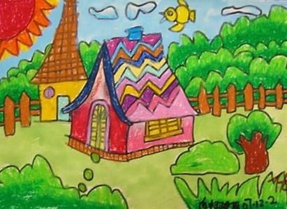家乡的春天儿童画