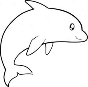 海豚怎么画简笔画简单又可爱