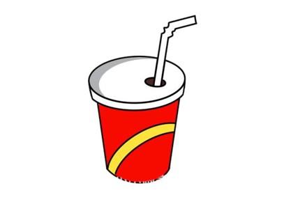一杯可乐简笔画步骤图解教程