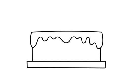 双层生日蛋糕简笔画步骤图片大全