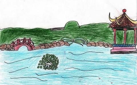 苏州园林绘画小学生作品