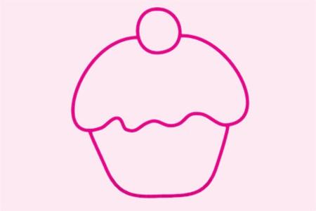 各种蛋糕简笔画简单画法步骤图片大全