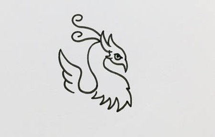 火凤凰怎么画好看又霸气又简单 火凤凰简笔画