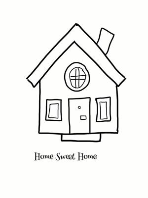 可爱小房子的画法