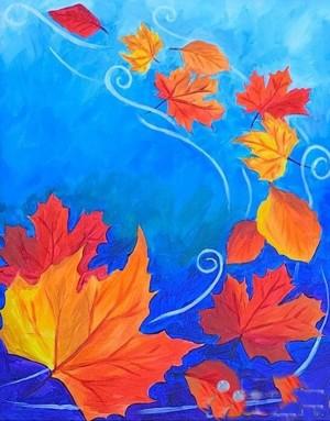 描写秋天的图画儿童画